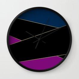 Angelica . Blue , black  , purple Wall Clock