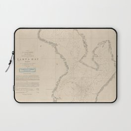 Vintage Map of Tampa Bay FL (1855) Laptop Sleeve