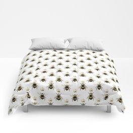Gold Queen bee / girl power bumble bee pattern Comforters