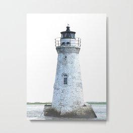 Lighthouse Illustration Metal Print