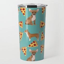 chihuahua pizza dog lover pet gifts cute pure breed chihuahuas Travel Mug