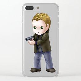 Chibi Dean Winchester (White BG) Clear iPhone Case