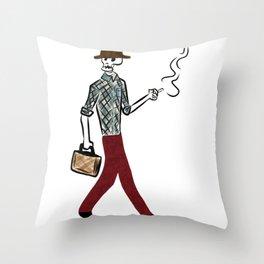 Calavera Walking Throw Pillow