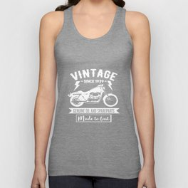 Vintage Since 1939 - Made To Last - Motorcycle Biker Unisex Tank Top