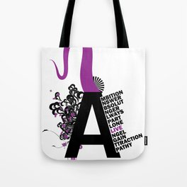 A is the Letter Tote Bag
