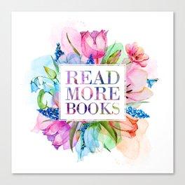 Read More Books Pastel Canvas Print