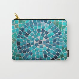 circular - photograph of mosaic tiles Carry-All Pouch