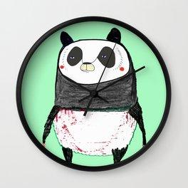 Skateboarding Panda Wall Clock