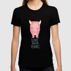 Love your fears Womens Fitted Tee Black LARGE