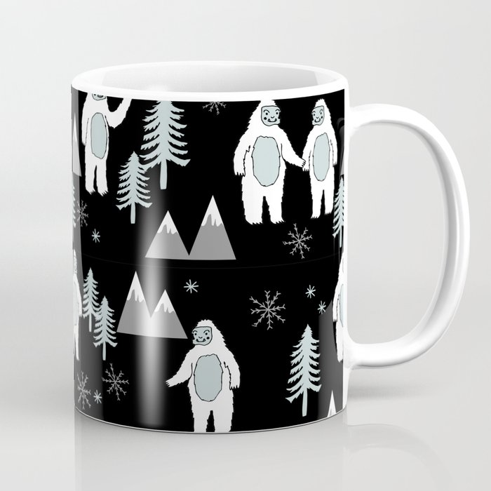 Yeti winter christmas cute forest pattern kids nursery holiday gifts ...