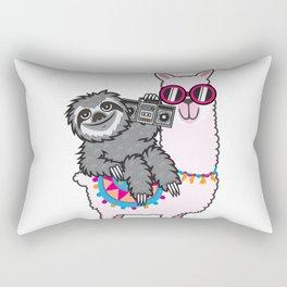 Sloth Music Llama Rectangular Pillow