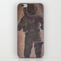 spaceman iPhone & iPod Skins featuring Spaceman by B.D. White