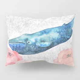 Whale Amongst the Roses Pillow Sham