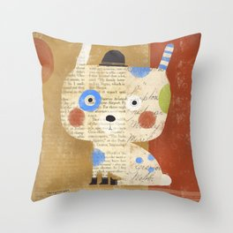 BIG HEAD TINY BOOTS Throw Pillow