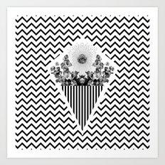 v x v x v Art Print