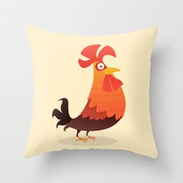 It's Time, Rooster! Throw Pillow
