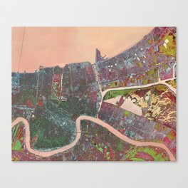 A Map of Vibrant New Orleans Canvas Print