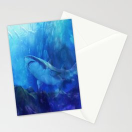Make Way for the Great White Shark King  Stationery Cards
