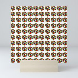 pattern rubik cube game puzzle Mini Art Print