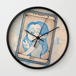 Ghost Phone Wall Clock