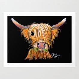 HiGHLaND CoW PRiNT SCoTTiSH ' LiTTLe ViKiNG 2 ' BY SHiRLeY MacARTHuR Art Print