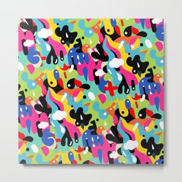 Color blobs Metal Print