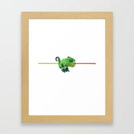 Run Cricket Run - Crazy Chameleon Framed Art Print