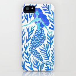 Kelp Forest Mermaid – Blue Palette iPhone Case