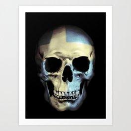 Swedish Skull Art Print