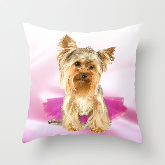tutu cute Throw Pillow