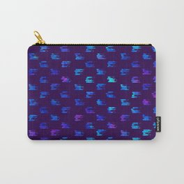 Blue strokes on dark Carry-All Pouch