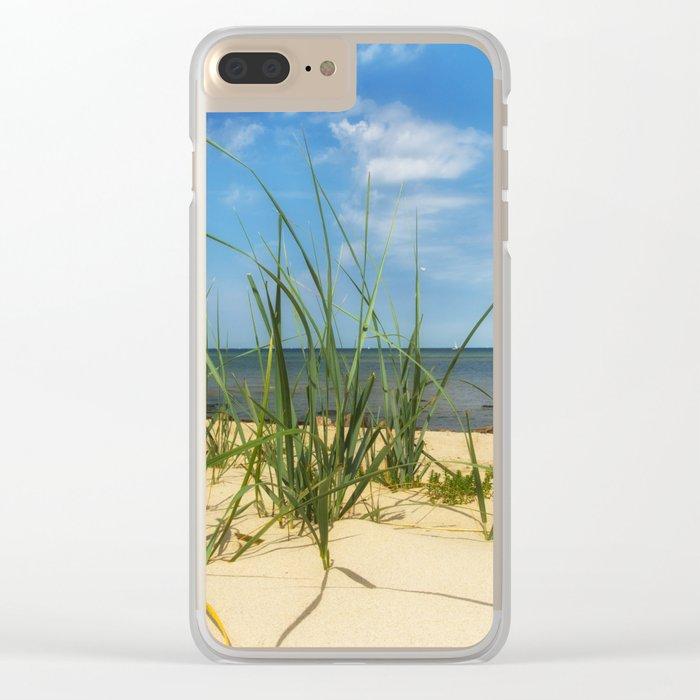 Beach Gras Impressions Clear iPhone Case