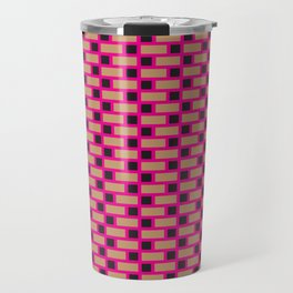 Brick (Pink, Brown, and Black) Travel Mug