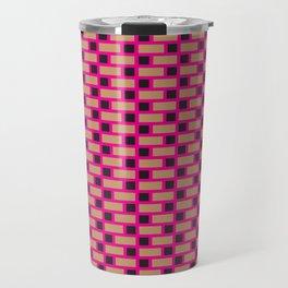 Brick (Pink, Brown, and Black) Travel Mug