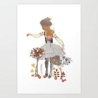 fairy tale Art Prints featuring Fairy tale by jenn l