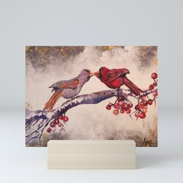 Kissing Cardinals Mini Art Print