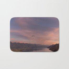 Sunset over Lake Wakatipu Bath Mat
