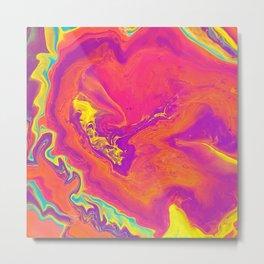 Acrylic pour psychedelia Metal Print