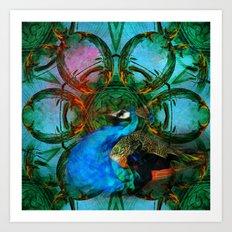 The peacock universe Art Print