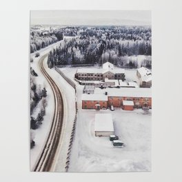 Winter view from the sky Poster
