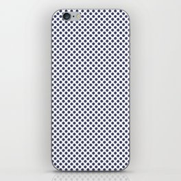 Deep Cobalt Polka Dots iPhone Skin