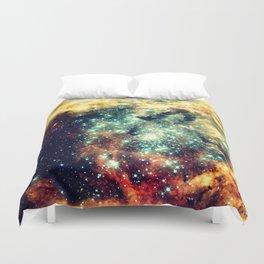 galaxy nebula stars Duvet Cover