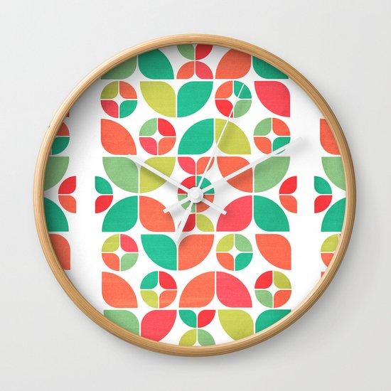 Vintage Summer Pattern Wall Clock