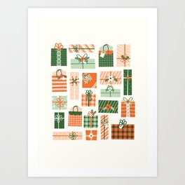 Christmas Presents Art Print