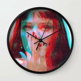 """I said goddamn. Goddamn"" - MIA WALLACE Wall Clock"