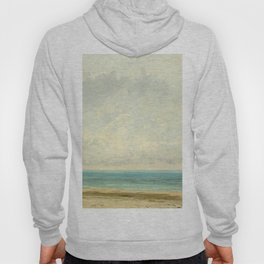Calm Sea Oil Painting by Gustave Courbet Hoody