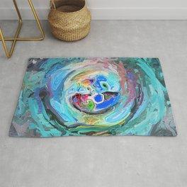 Abstract Mandala Blue and Multi-coloured 1963 Rug