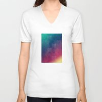 circles V-neck T-shirts featuring Circles by Beehive Dezines