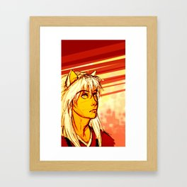 Demon Eyes Framed Art Print