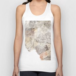 Athens map Unisex Tank Top